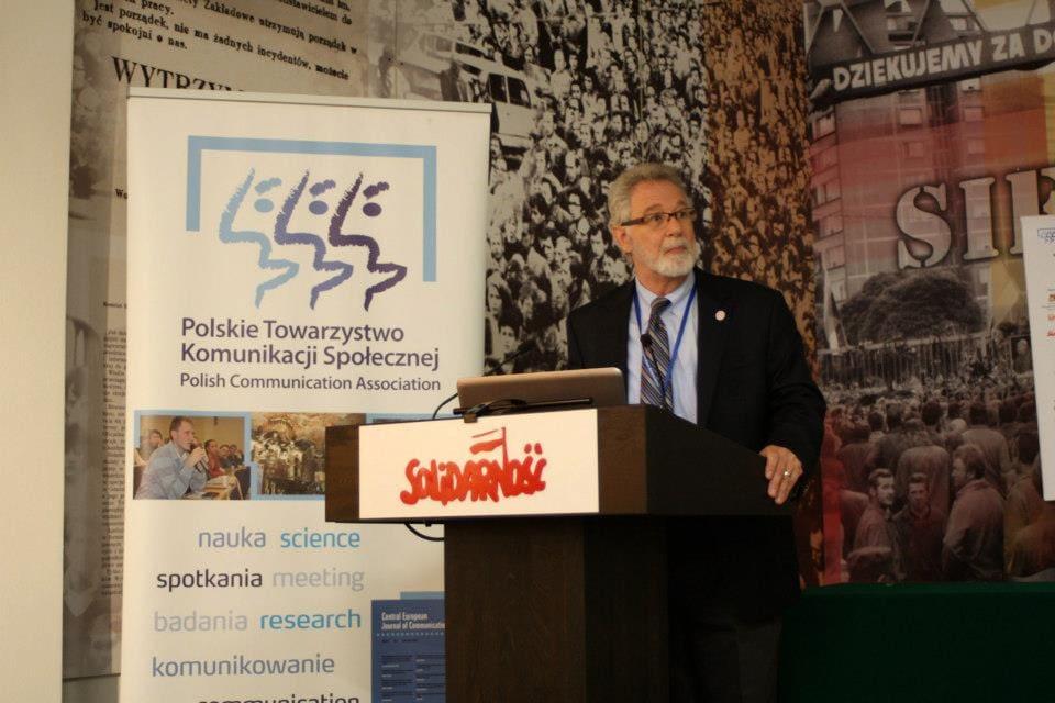 Dr. Gross at Polish Communication Association Conference