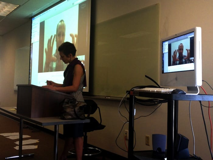 499 students Skyp-ing with Brian Hamman from the New York Times