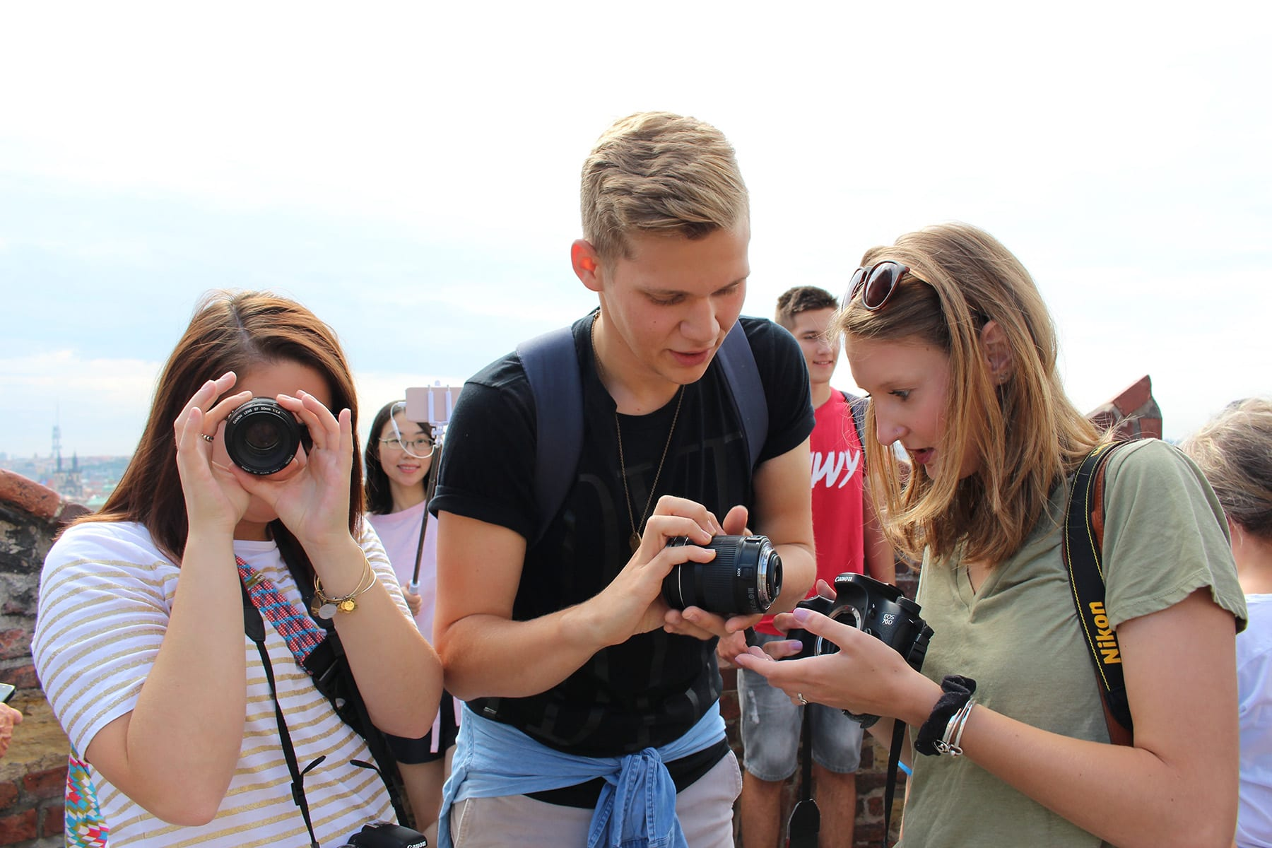 JEM students studying abroad in Prague.