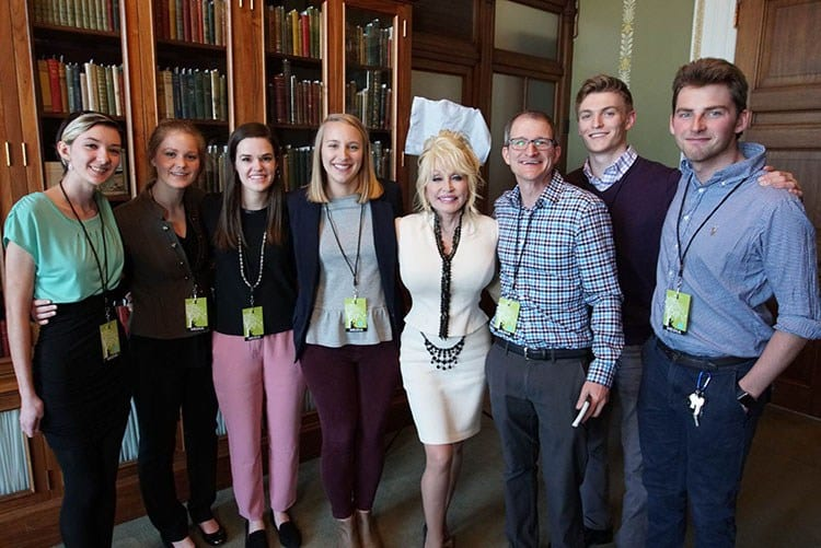 JEM Land Grant Film students with Nick Geidner and Dolly